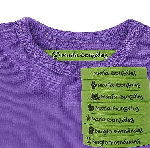 100 Etiquetas Termoadhesivas Personalizadas con Icono para marcar ...