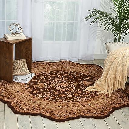 free form rug  Amazon.com: Nourison Heritage Hall (HE8) Brown Free Form ...