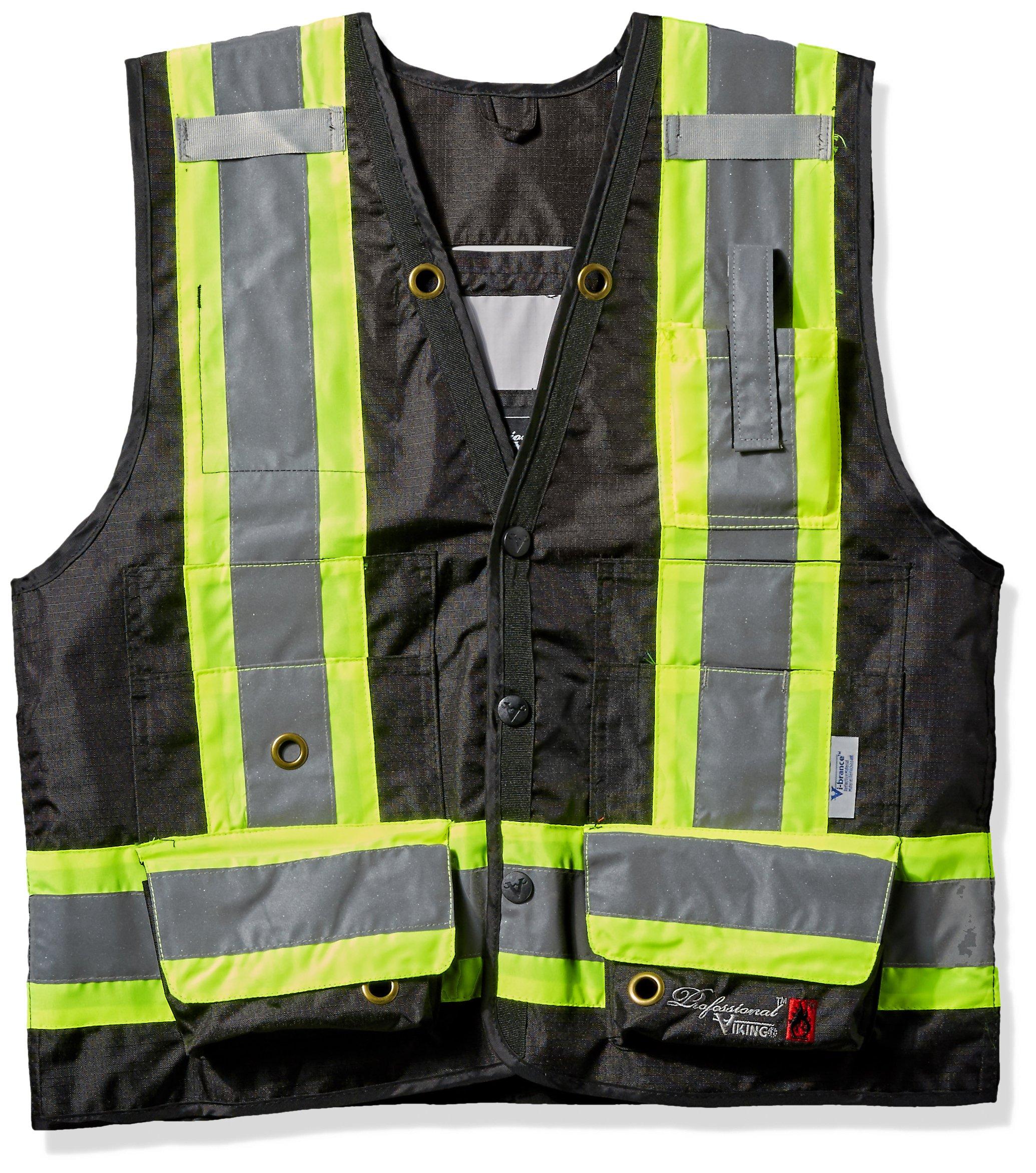Professional 300D Trilobal Rip Stop Fire Resistant Surveyor Vest Size: X-Large