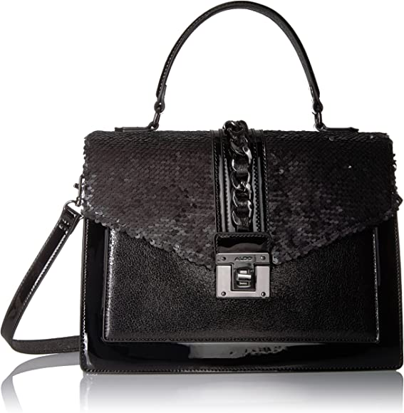 5ab10b4edb Aldo Filinna, Black Leather, One Size: Handbags: Amazon.com