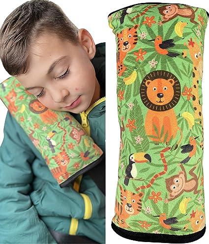 HECKBO® Cuscino per Auto per Bambini con Giungla - Lavabile in