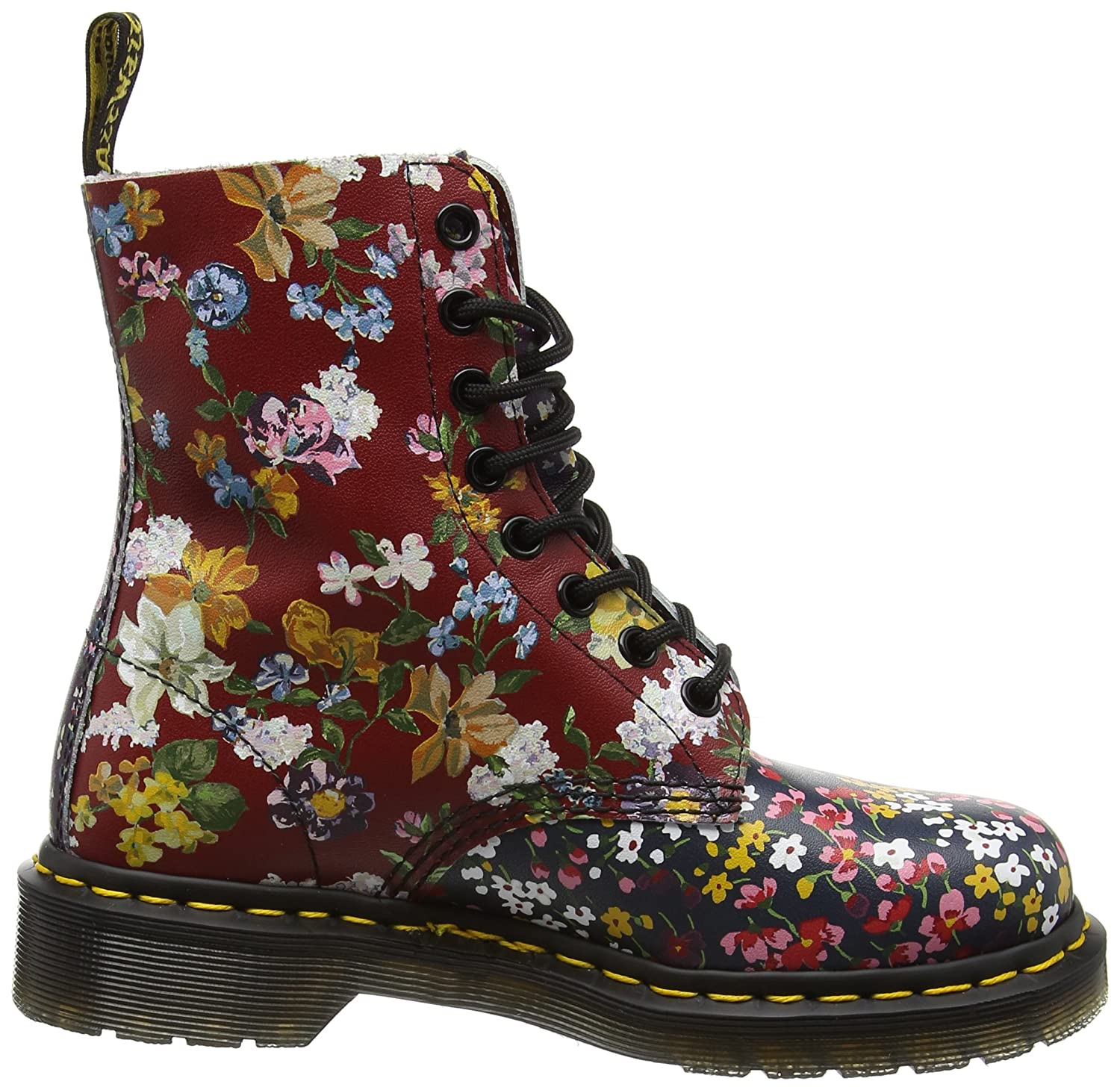 Dr. Martens Women's Pascal Leather Combat Boot B01IDT8JE8 8 B(M) US|Floral