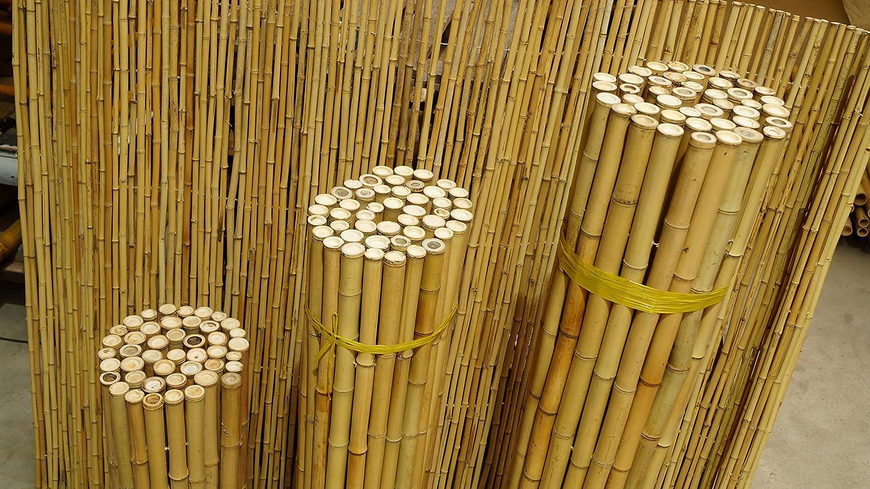 Amazon 43 47 mm 120 x 200 cm Bambuszaun Rollzaun Sichtschutz