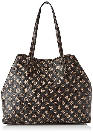 Vikky Large Tote Bag Brown