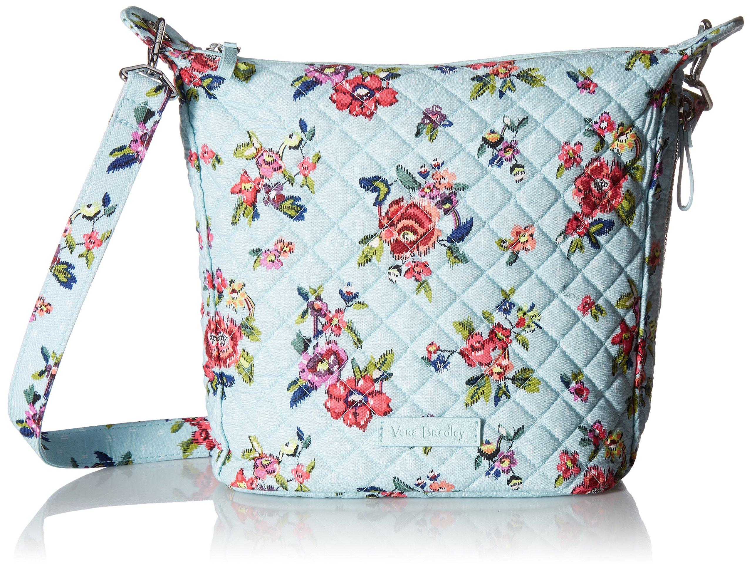 Vera Bradley Carson Mini Hobo Crossbody, Signature Cotton, Water Bouquet