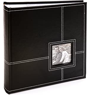 kenro classic white leather look photo album for 200 photos 6x4 inch