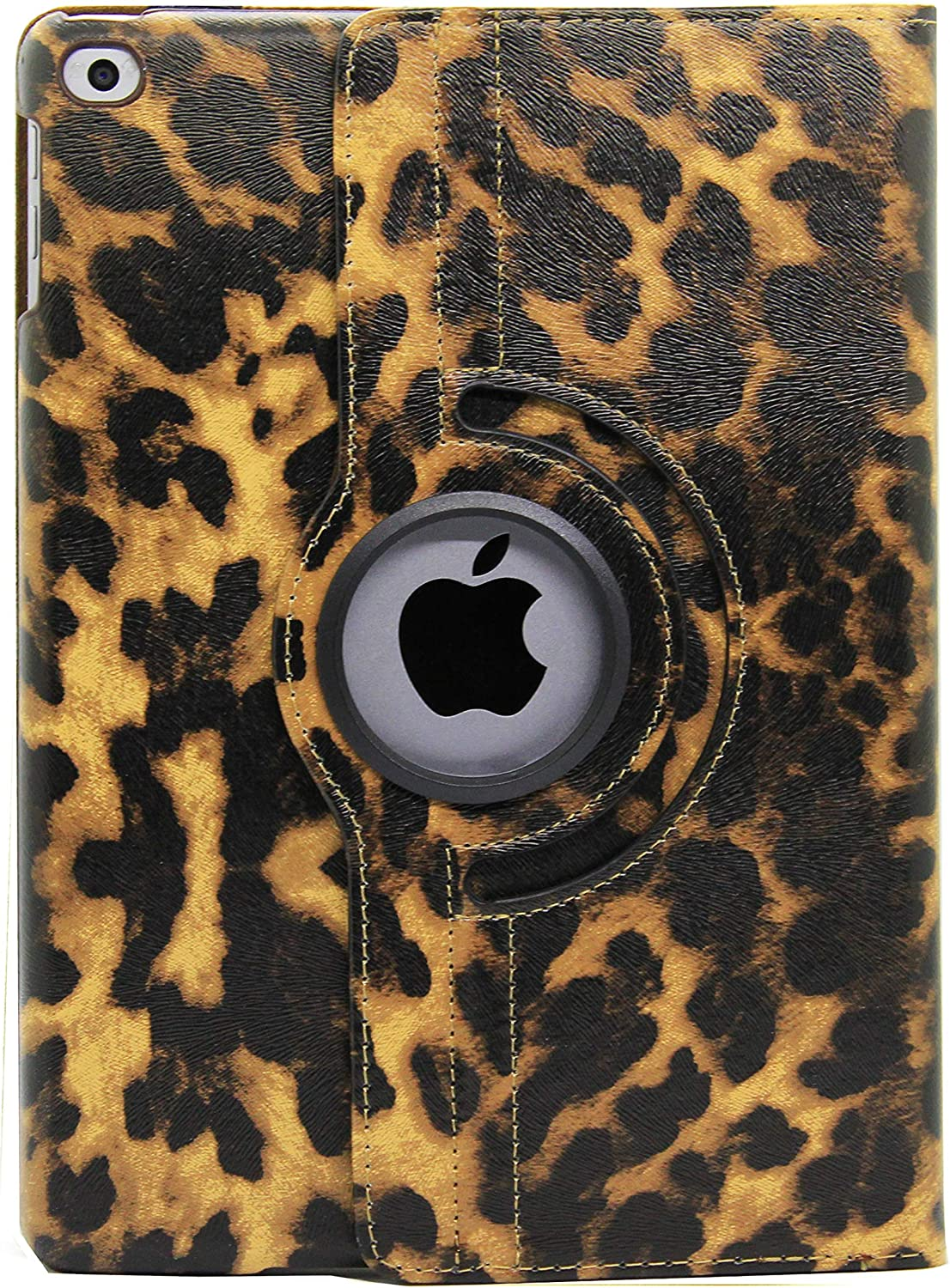 "iPad Air (3rd Generation) 10.5"" 2019 Case, iPad Pro 10.5"" 2017 Case, LiViTech(TM) Leopard Design Series 360 Degree Rotating PU Leather Case Cover for iPad 10.5 inch Case 2019 2017 Model (Brown)"