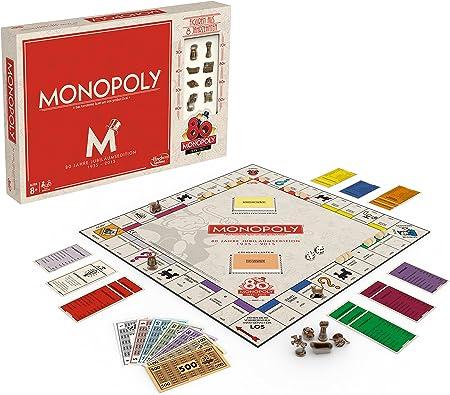 Hasbro Gaming - Monopoly 80 Aniversario, Juego de Mesa (versión en alemán): Amazon.es: Juguetes y juegos