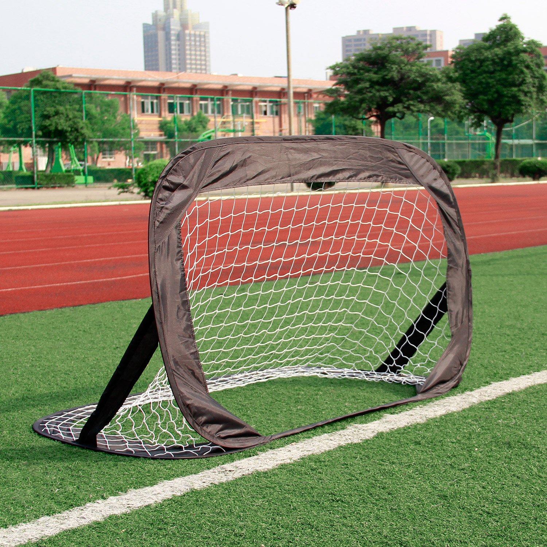 2er Fußballtor Set Pop Up Fußball Mini Tore Garten 120 x 80 x 80cm ...