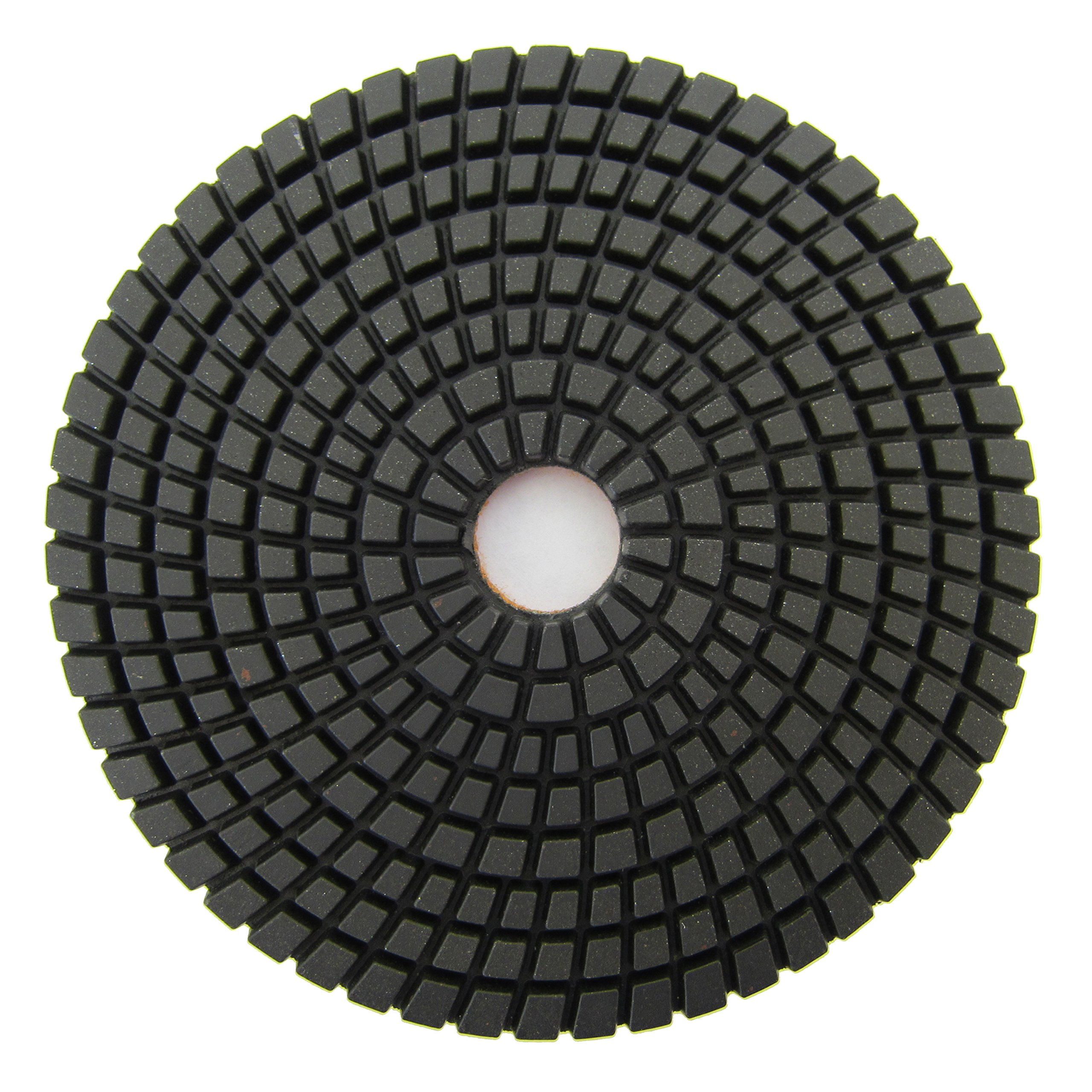 Wet Diamond Polishing Pads 5 in. for Granite and Marble Polishing by Archer USA (#100 Grit)