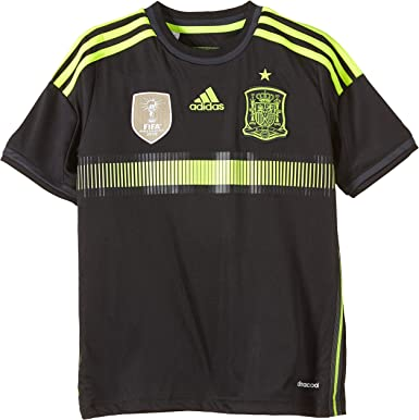 adidas FEF Away Jersey - Camiseta de Manga Corta para niños, diseño de la Selección de fútbol de España visitante: Amazon.es: Deportes y aire libre