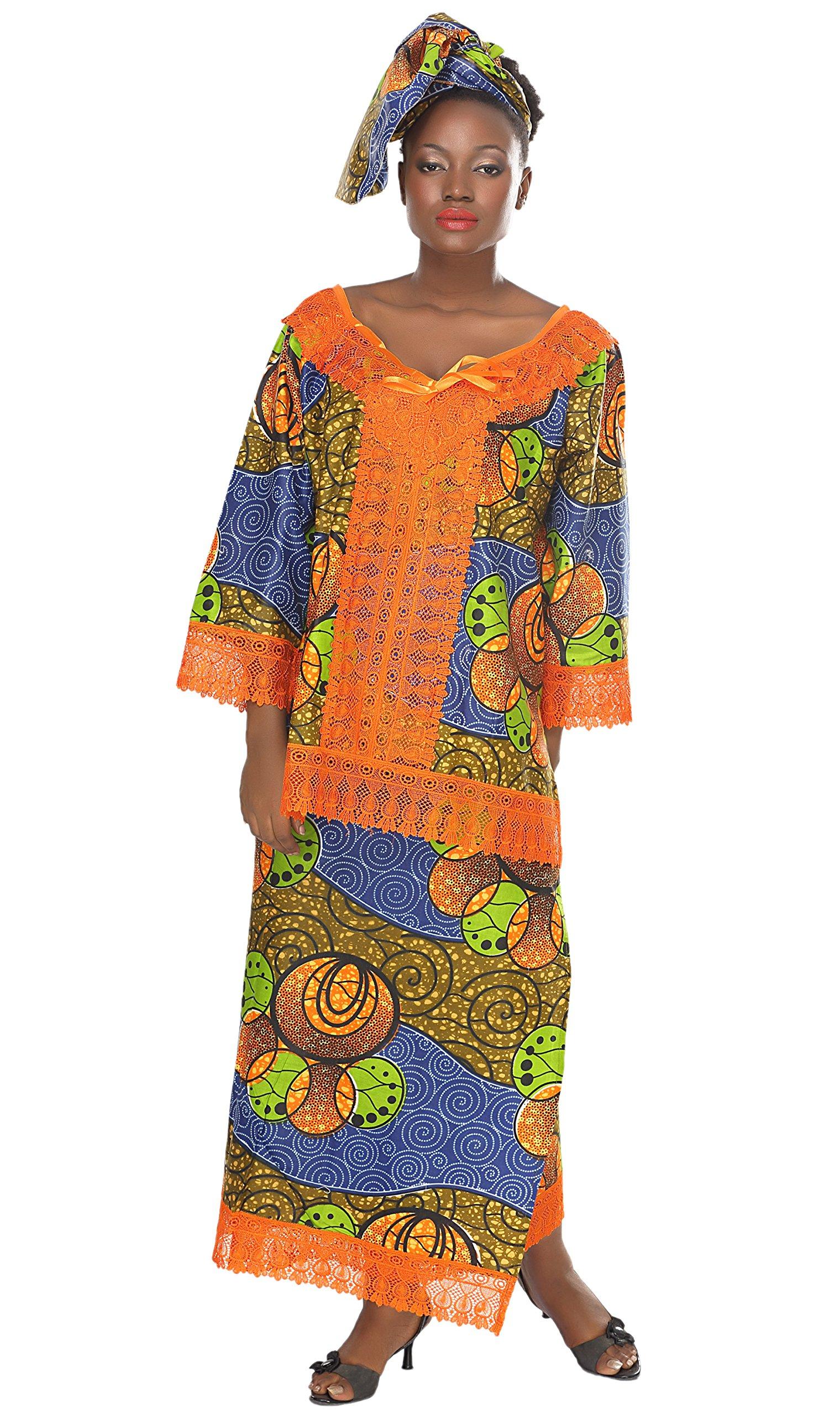 African Planet Women's 3 Piece Skirt Set Ethiopian Wedding Inspired Maxi Gele