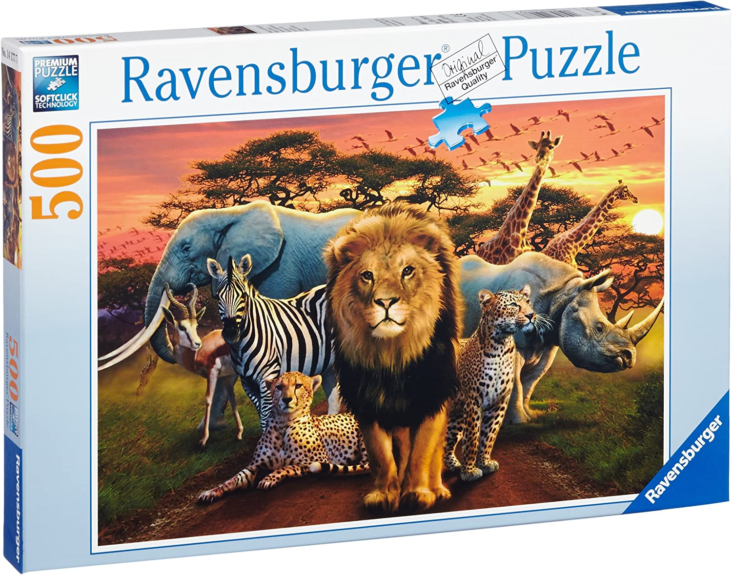 Ravensburger African Splendor 500 Piece Jigsaw Puzzle for Adults – Every Piece is Unique, Softclick Technology Means Pieces Fit Together Perfectly