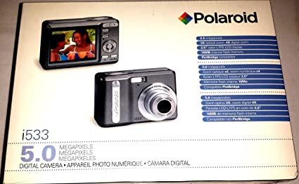 amazon com polaroid i533 5mp 3x optical 4x digital zoom camera rh amazon com Polaroid I1236 Manual Instant Camera