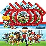 Nickelodeon BPWFA-98Vaisselle jetable pour 16 personnes, motif Pat' Patrouille