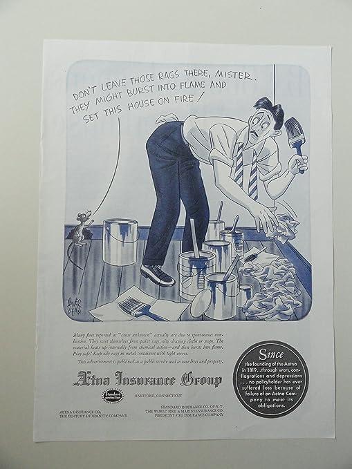 Amazon Com Atna Insurance Group 1948 Illustration By Abner Dean