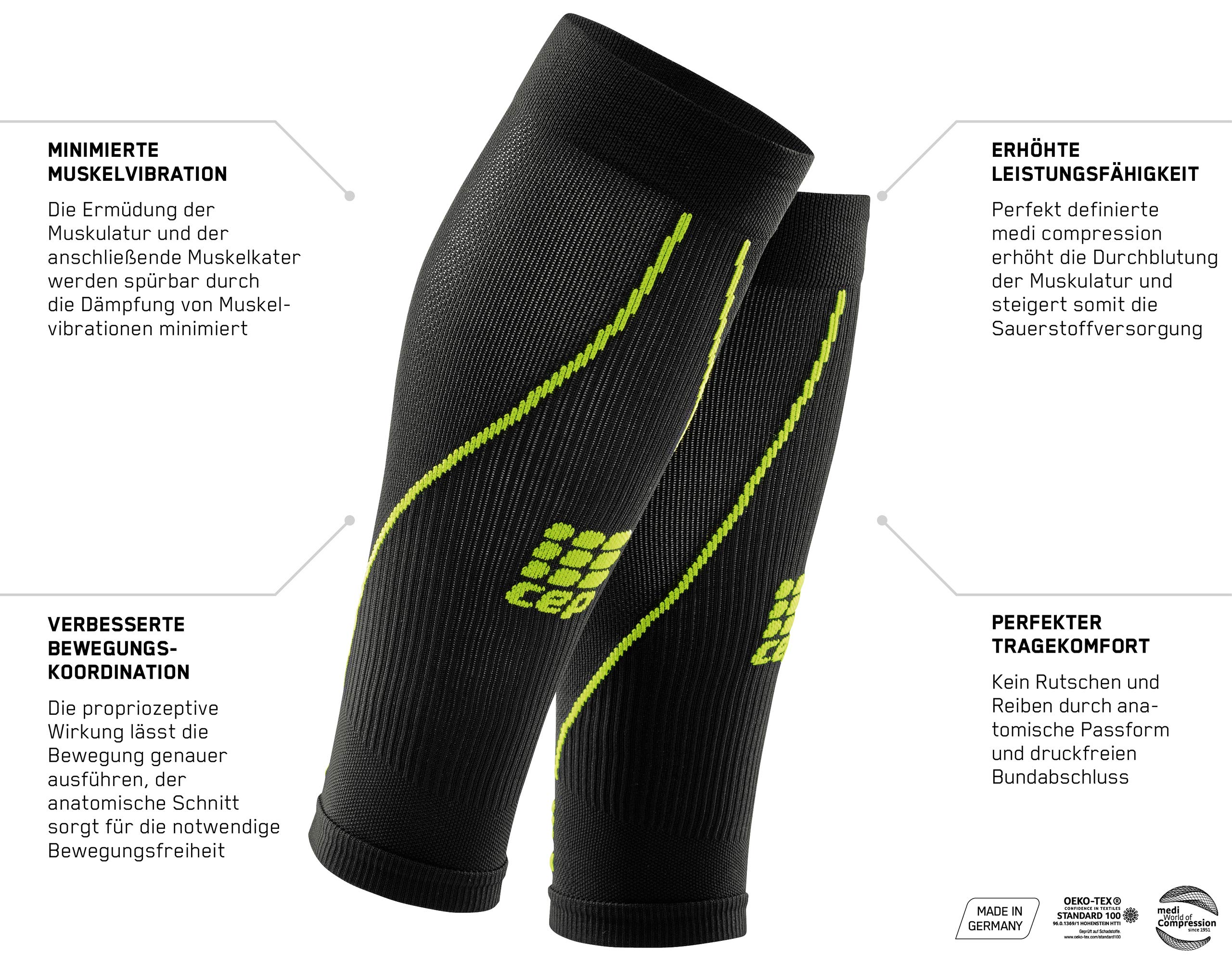 Womens Calf Compression Sleeves - CEP Running 2.0 (Black) II by CEP (Image #6)