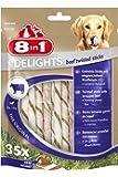 8in1 Delights Beef Kauknochen (gesunder Kausnack für sensible Hunde, hochwertiges Rindfleisch), verschiedene Größen