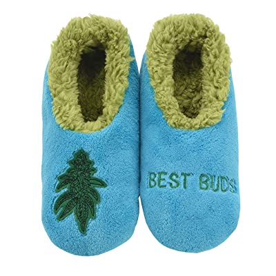 Snoozies 420 Mens Slippers | Slippers for Men | Best Buds | Small | Slippers
