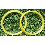 """17G VERSION 2 N.G.W. NATURAL GUT TENNIS STRING """"FLOURESCANT YELLOW COATED COLOR"""""""