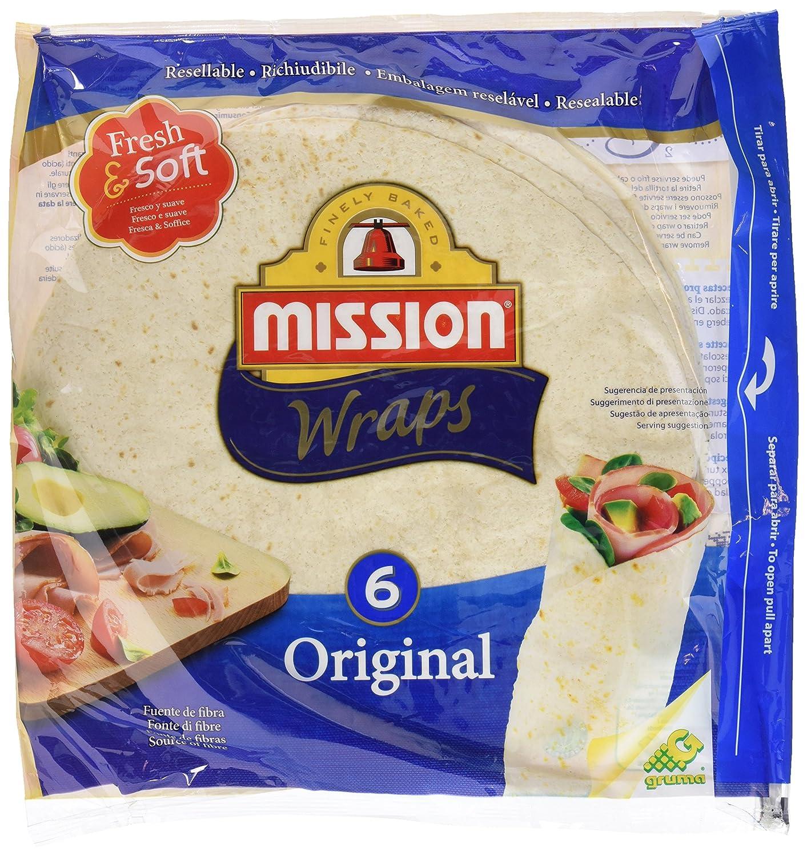 Mission Wraps Original - 6 Paquetes de 370 gr - Total: 2220 gr: Amazon.es: Alimentación y bebidas