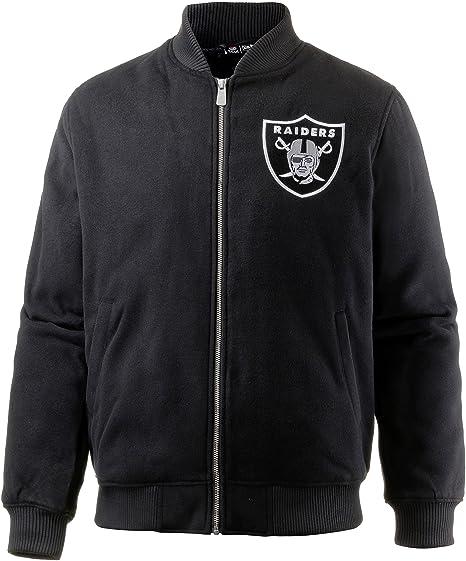 b437d220faa New Era Men Jackets/Bomber Jacket Team Melton Oakland Raiders Bomber Black  S: Amazon.co.uk: Clothing