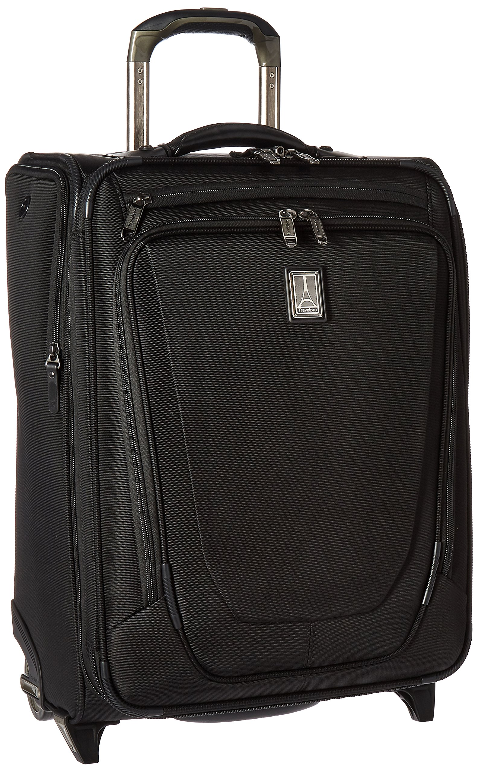Travelpro Crew 11 20'' Expandable Business Plus Rollaboard Carry-on Suitcase, Black