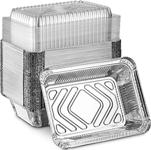 MontoPack Disposable Takeout Pans with Clear Lids