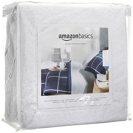 AmazonBasics Hypoallergenic Vinyl-Free Waterproof Mattress Protector, Queen (60 x 80 - Suitable for Queen/Double Bed)