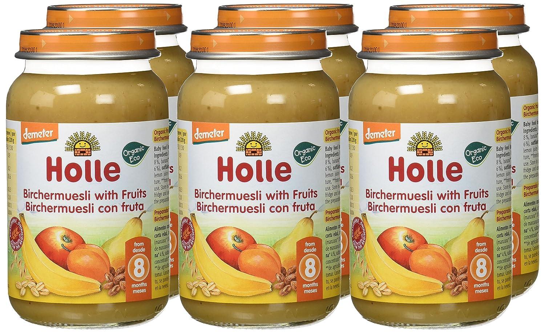 Holle Potito de Muesli con Frutas (+8 meses) - Paquete de 6 x 220 gr - Total: 1320 gr: Amazon.es: Alimentación y bebidas