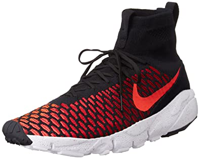 cd13efd696a5 Nike Mens Air Footscape Magista Flyknit Black/Bright Crimson-Gym Red Fabric  Size 9
