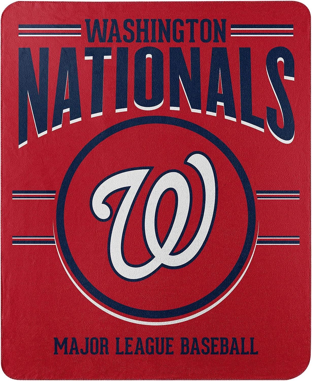 Team Colors One Size Northwest MLB Los Angeles Dodgers 50x60 Fleece Southpaw DesignBlanket
