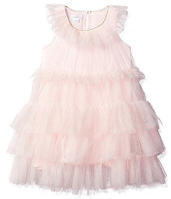 17178b4e307 Amazon.com  Mud Pie Baby Girls Mesh Tiered Sleeveless Dress  Clothing