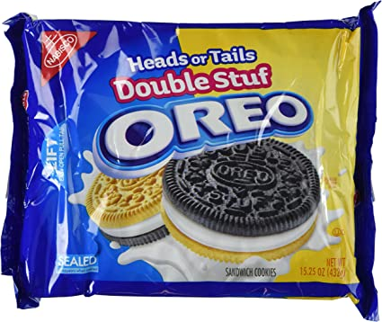 Oreo Heads or Tails, Double Stuffed Sandwich Cookies, 15.25-Ounce ...