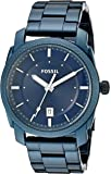 Fossil Machine Three-Hand Date Stainless Steel Watch