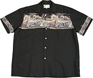 product image for Paradise Found Mens Desert Rider Motorcycle Chest Band Shirt Black 3X