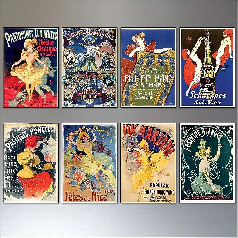 Fridge Magnets imán de refrigerador Conjunto de imanes de nevera Art nouveau de 8 No.2: Amazon.es: Handmade