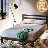 Zinus Arnav Modern Studio 10 Inch Platform 2000H Metal Bed Frame / Mattress Foundation / Wooden Slat Support / With Headboard / Good Design Award Winner, Queen