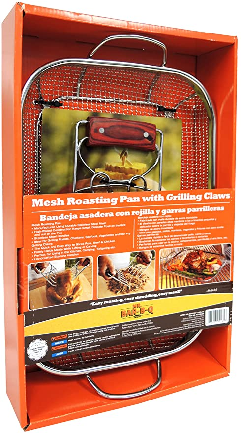 Mesh Roasting Pan with Grilling Claws