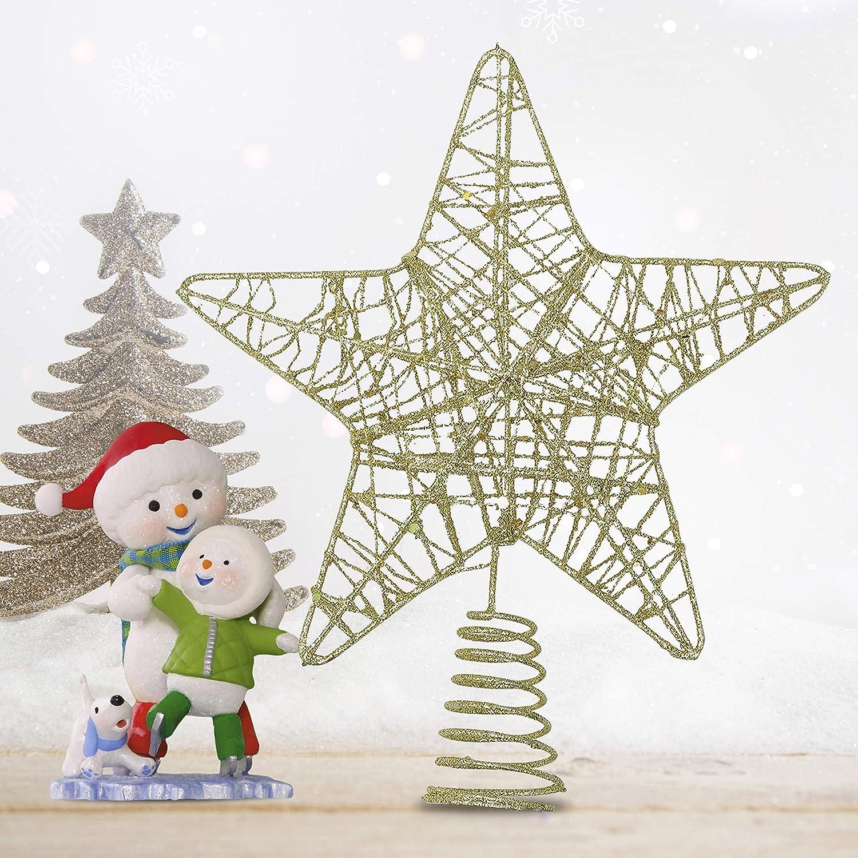 BELLE VOUS Decoracion Arbol Navidad - Adornos Árbol Navidad Coronar Arbol - 6