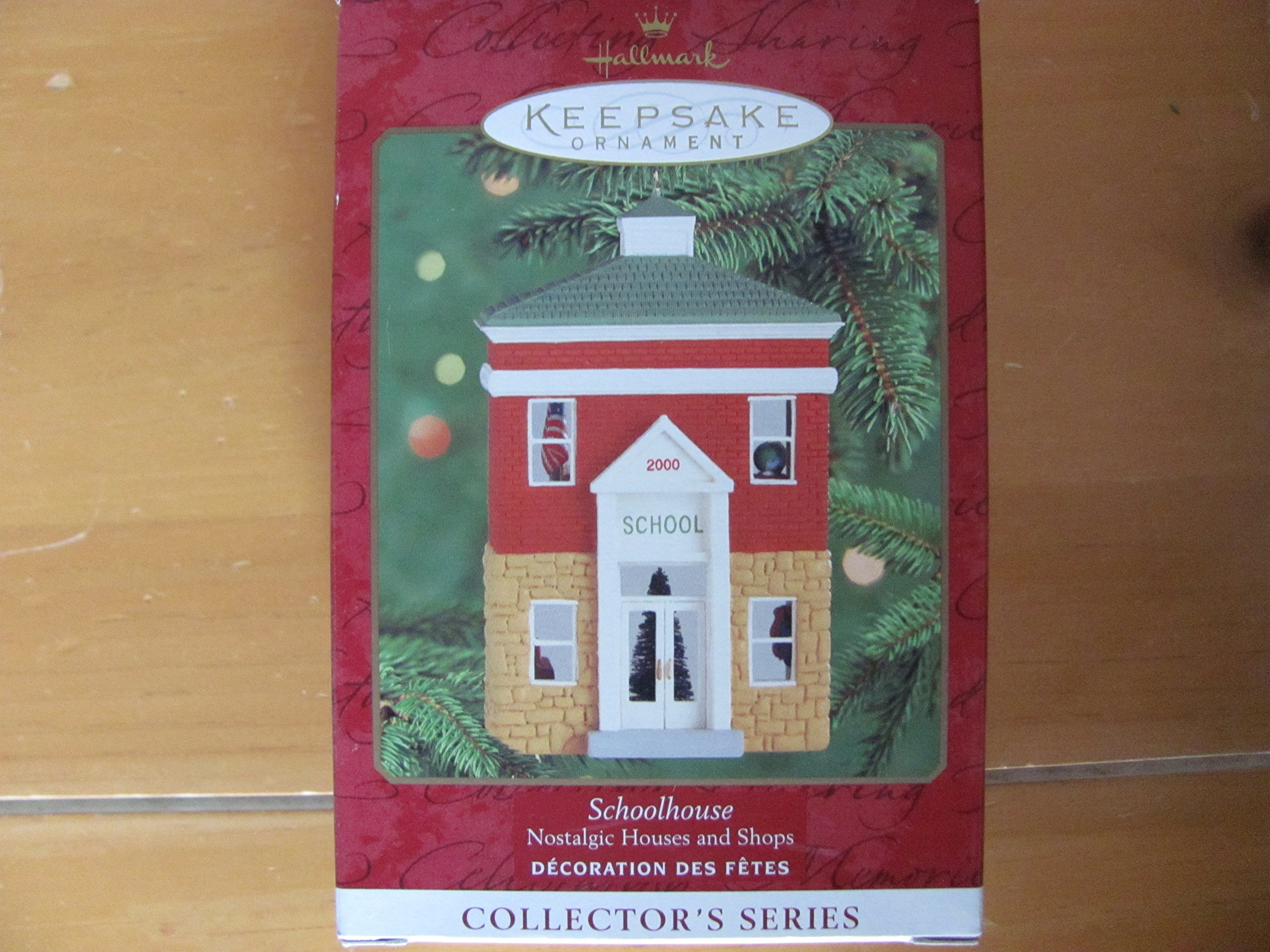 QX6591 Schoolhouse 17th in Nostalgic Houses and Shops Series 2000 Hallmark Keepsake Ornament
