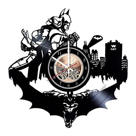 livingroom kitchen Valentine/'s Day wedding Batman and Catwoman Unique Wall Clock for bedroom gift idea for birthday bathroom Mother/'s Day