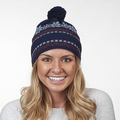 c8c4d762f Amazon.com : Vermont Originals 100% Wool USA Made Oslo Pom Winter ...