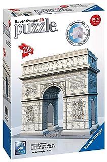 Ravensburger Italy Puzzle 3D Big Ben con Orologio Funzionante, 12586