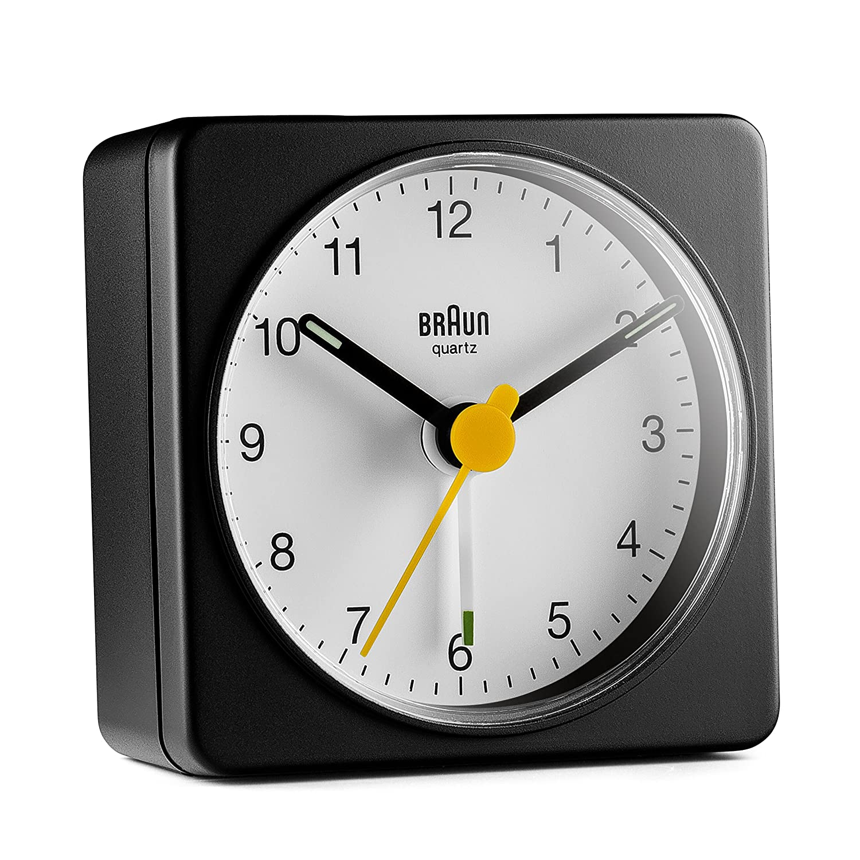 Braun BC02BW Travel Alarm Clock Black/White