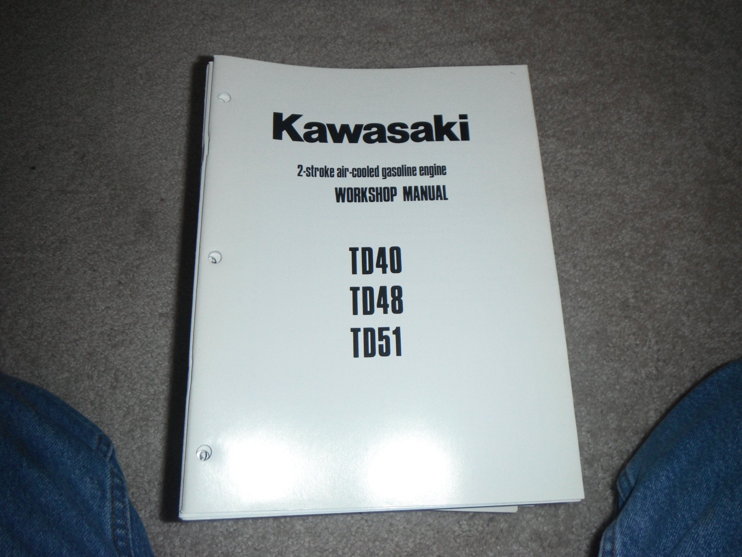 kawasaki td40 td48 td51 2 stroke air cooled gasoline engine rh amazon com  kawasaki td48 manuel