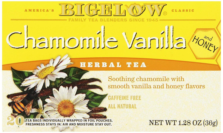 Bigelow herbal tea - Amazon Com Bigelow Chamomile Vanilla Herbal Tea With Honey 20 Count Pack Of 6 Grocery Gourmet Food