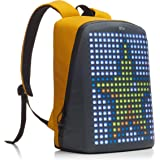 PIX Women's Backpack With Programmable Screen, Yellow, Large