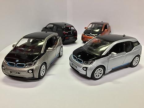 Amazon Com Set Of 4 1 32 Scale Bmw I3 Electric Car Model Orange