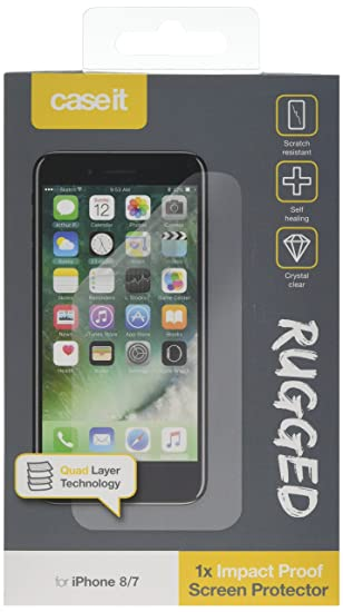 separation shoes ab2bb 91c26 Case It Rugged Screen Protector for iPhone 7 - Clear: Amazon.co.uk ...